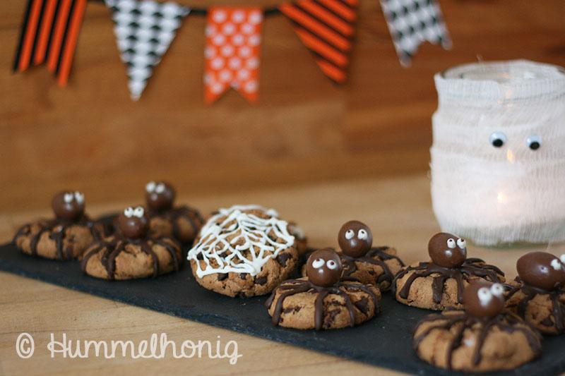 Spinnen Kekse Halloween