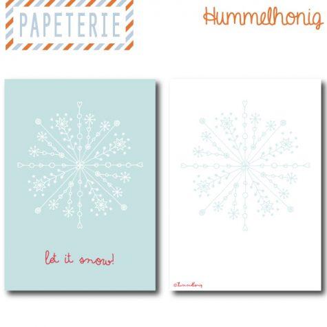 Postkarte Let_it_snow