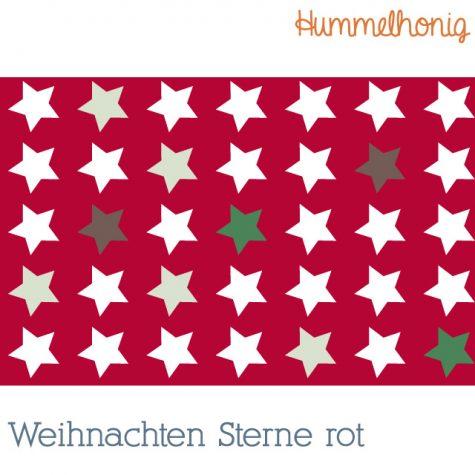 Stoffdesign Weihnachten Sterne rot