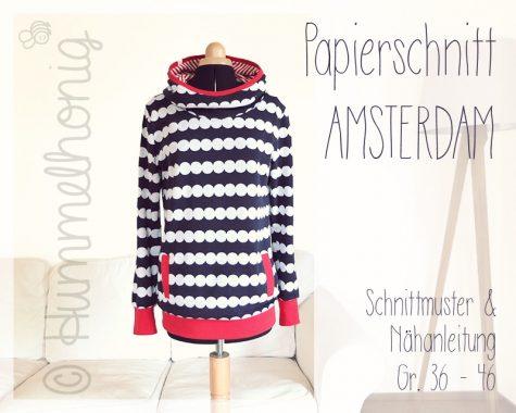 Papierschnitt Damenhoodie Amsterdam