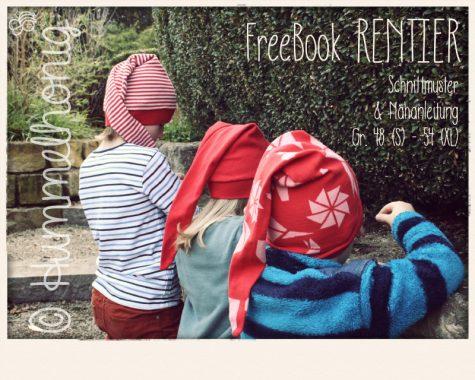 Freebook Mütze Rentier