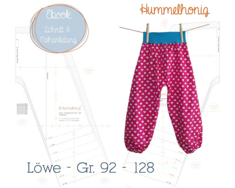 Ebook Pumphose Löwe (Gr. 92-128) – Hummelhonig