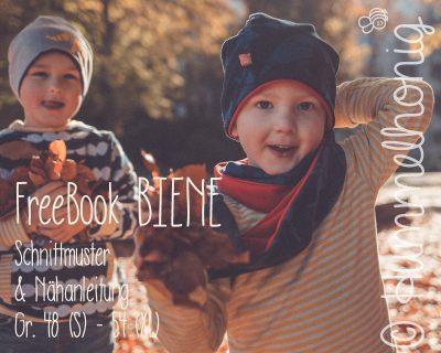 Freebook Biene - Beanie und Loop
