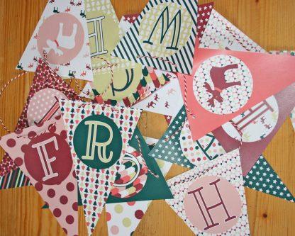 Produktfoto Wimpelkette Weihnachten