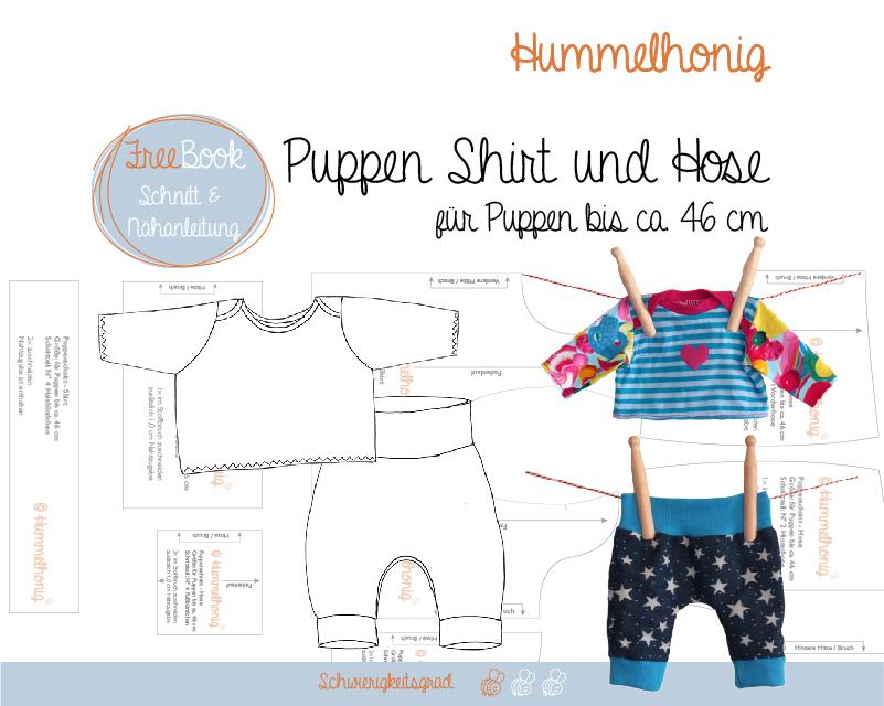15 geschenkt freebook puppenshirt und hose hummelhonig. Black Bedroom Furniture Sets. Home Design Ideas