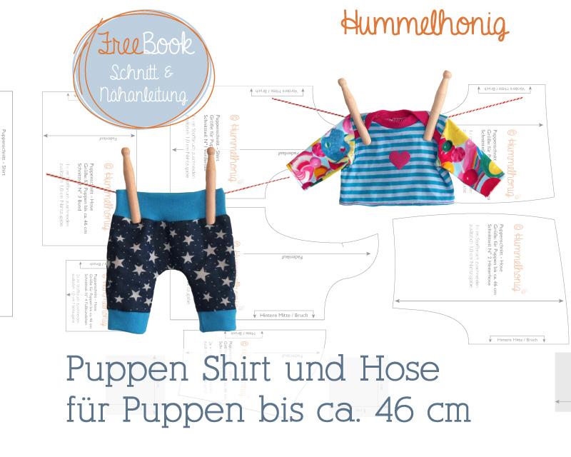 Freebook Puppen Shirt und Hose – Hummelhonig