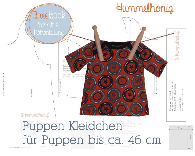 Freebook Puppen Kleid – Hummelhonig