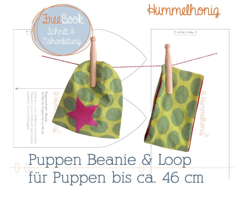Freebook Puppen Beanie und Loop – Hummelhonig