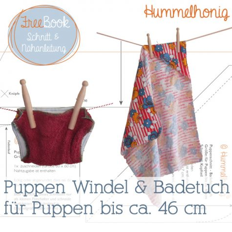 Freebook Puppen Windel Badetuch