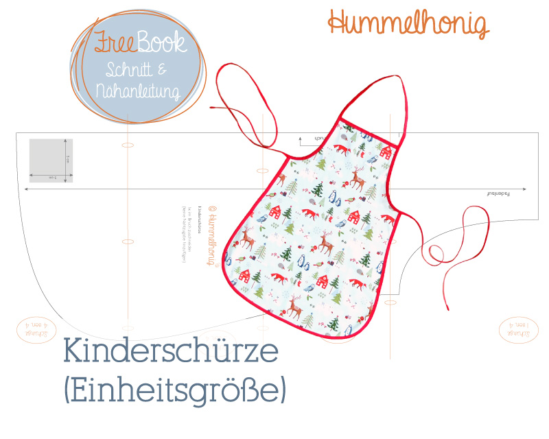 Freebook Kinderschürze – Hummelhonig