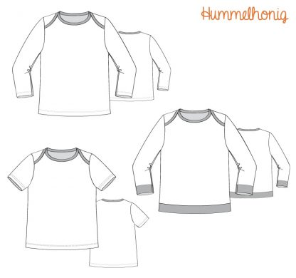Skizze Babyshirt Hummel