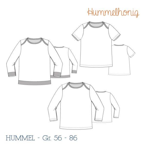 Babyshirt Hummel Skizze