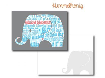Postkarte Elefant Boy