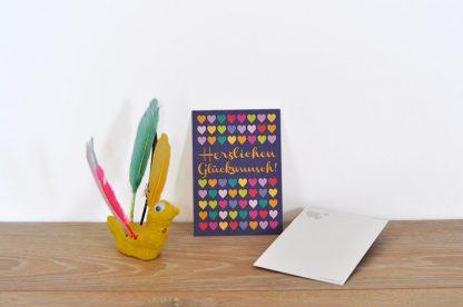 Postkarte Herzlichen Glückwunsch
