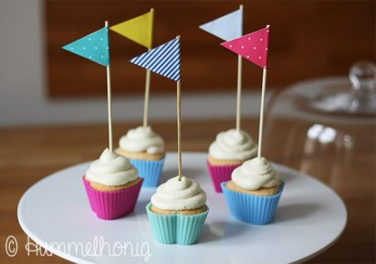 Kokos Cupcakes Wimpel