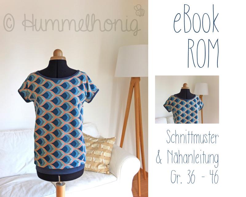 Ebook Damen-Shirt Rom (Gr. 34-46) – Hummelhonig