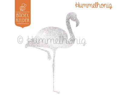 Bügelbild Flamingo Glitzer