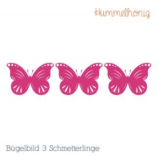 Bügelbild Drei Schmetterlinge