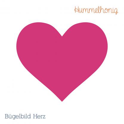 Bügelbild Herz