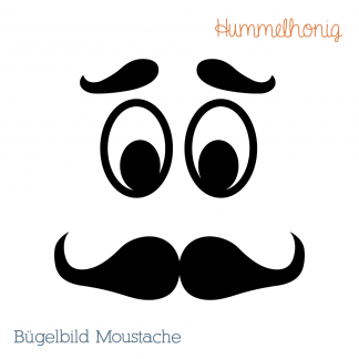 Bügelbild Moustache