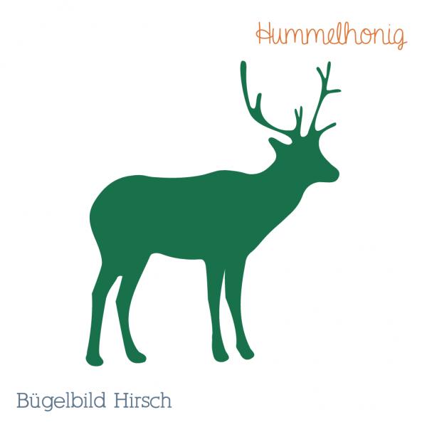 Bügelbild Hirsch