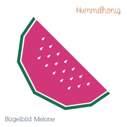 Bügelbild Melone