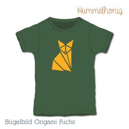 Bügelbild Origami Fuchs
