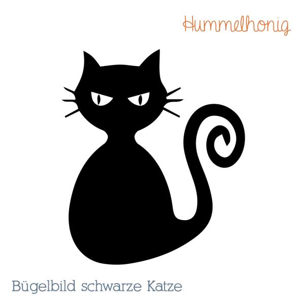Bügelbild Schwarze Katze