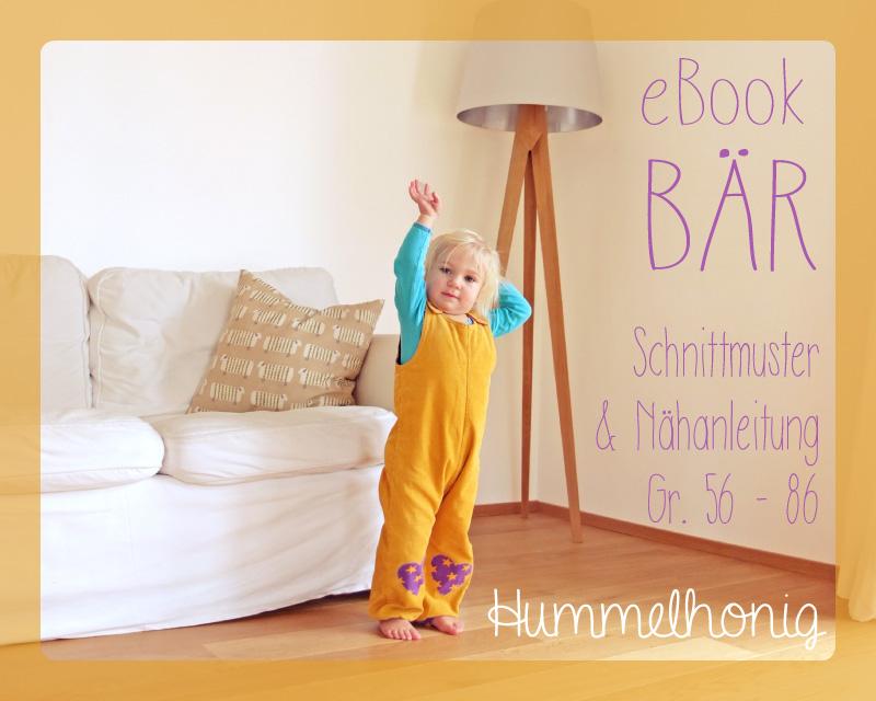 Ebook Latzhose Bär (Gr. 56-86) – Hummelhonig