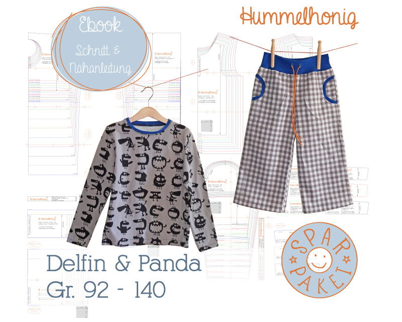 Ebookpaket Hose Delfin & Shirt Panda – Hummelhonig
