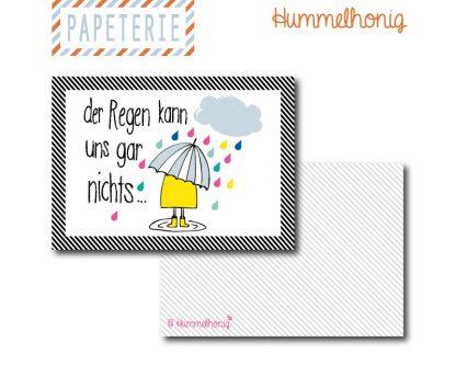 Postkarte Regenlaune