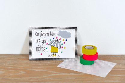 Postkarte Der Regen kann uns gar nichts