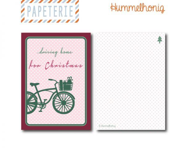 Driving_home_for_Christmas Postkarte