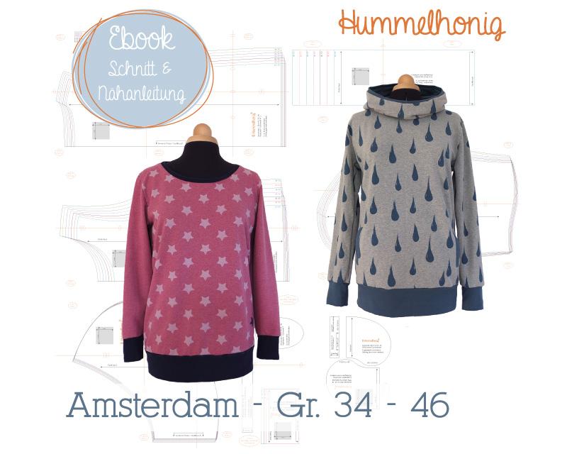 Ebook Damen Sweat/ Hoodie Amsterdam (Gr. 34-46) – Hummelhonig