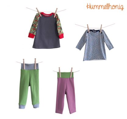 Sparpaket Babyleggings Babykleid