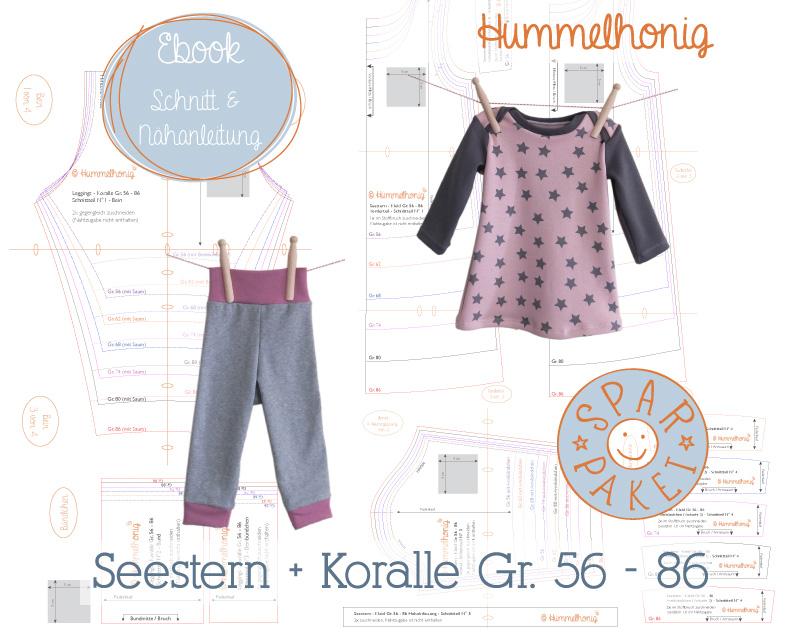Ebookpaket Baby-Leggings und Babykleid (Gr. 56-86) – Hummelhonig