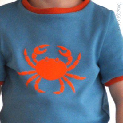 Bügelbild Krabbe