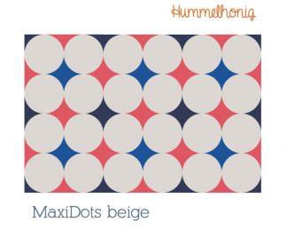 Stoffdesign MaxiDots beige