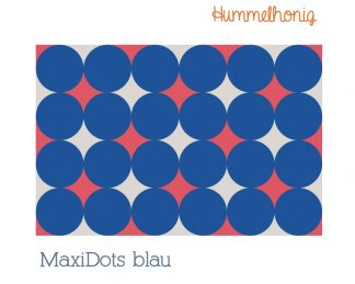 Stoffdesign MaxiDots blau