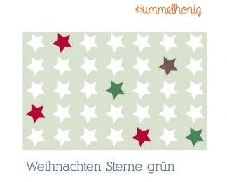 Stoffdesign Weihnachten Sterne grün