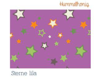 Stoffdesign Sterne lila