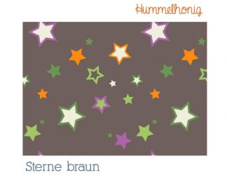 Stoffdesign Sterne braun