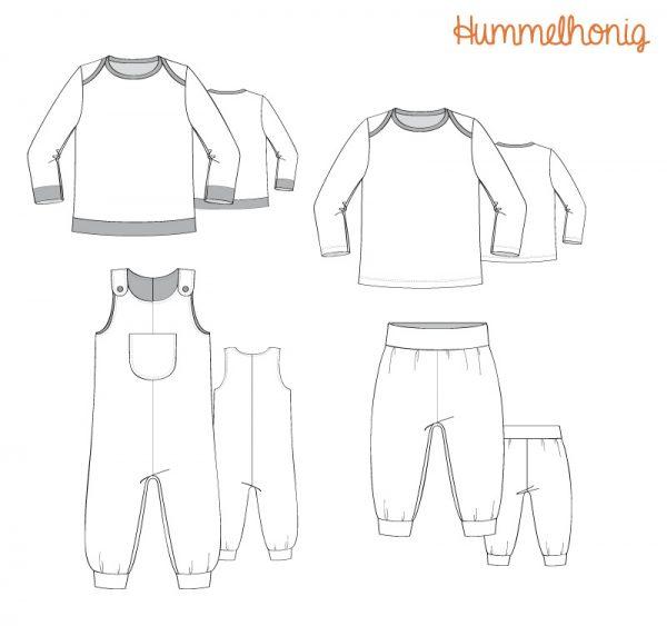 Skizzen Babypaket Papierschnitt