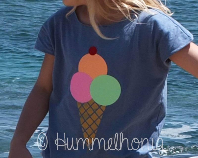 Mehrfarbige Bügelbilder - Eis