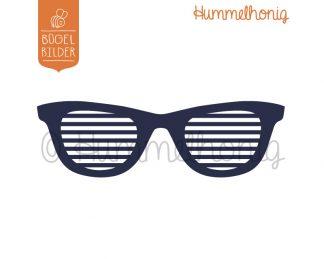 Bügelbild Brille