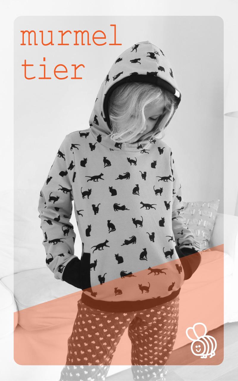 Neues Schnittmuster: Hoodie Murmeltier – Hummelhonig