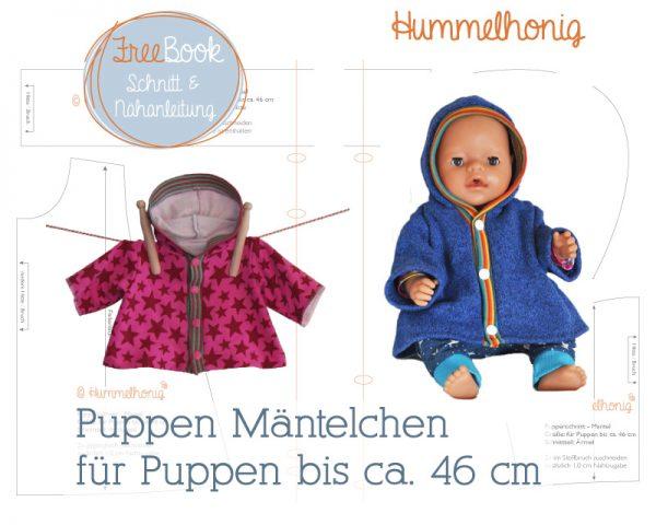 Freebook Puppen Mantel