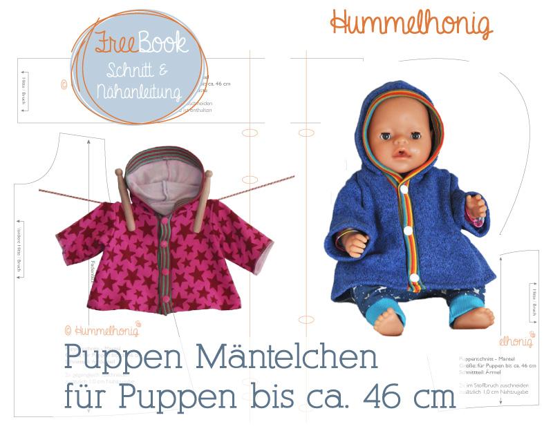 Freebook Puppen Mantel – Hummelhonig