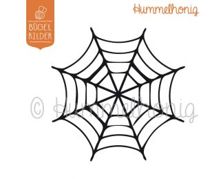 Bügelbild Spinnennetz