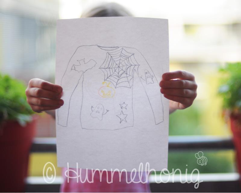 Zeichnung Halloween Shirt